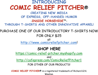 Comic Relief Pitcher Custom Shirts & Apparel