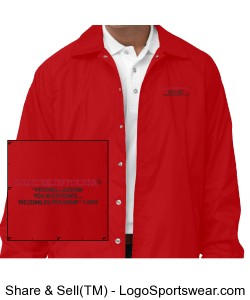 Coach-Style Windbreaker Jacket Design Zoom