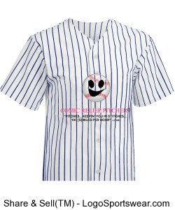 Pinstripe 6 Button Front Baseball Jersey Design Zoom